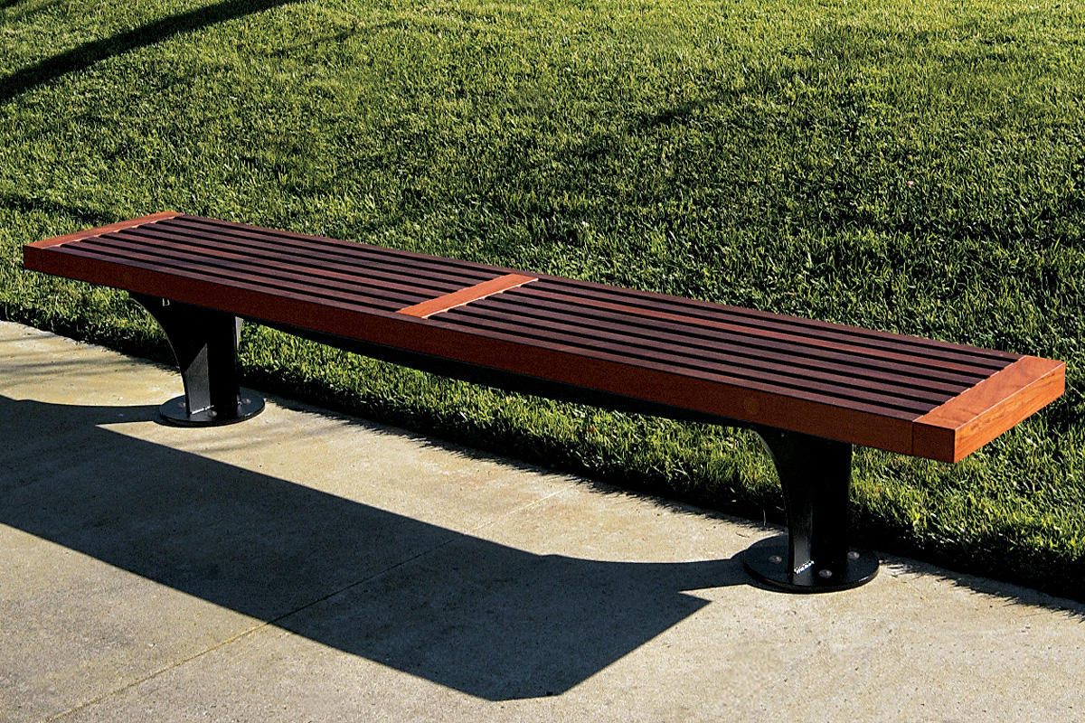 ... Pacifica Bench, 8 Foot, Backless, Surface Mount, FSC® 100% Jatoba ...