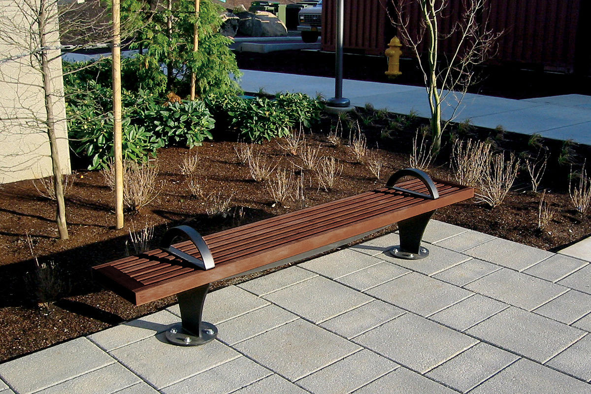 Bench 8 Part - 36: ... Pacifica Bench, 8 Foot, Backless, Surface Mount, FSC® 100% Jatoba ...
