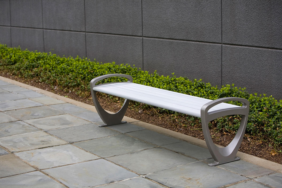 Trio bench outdoor forms surfaces Aluminum benches