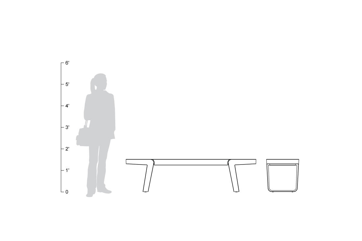 Circuit Bench shown to scale