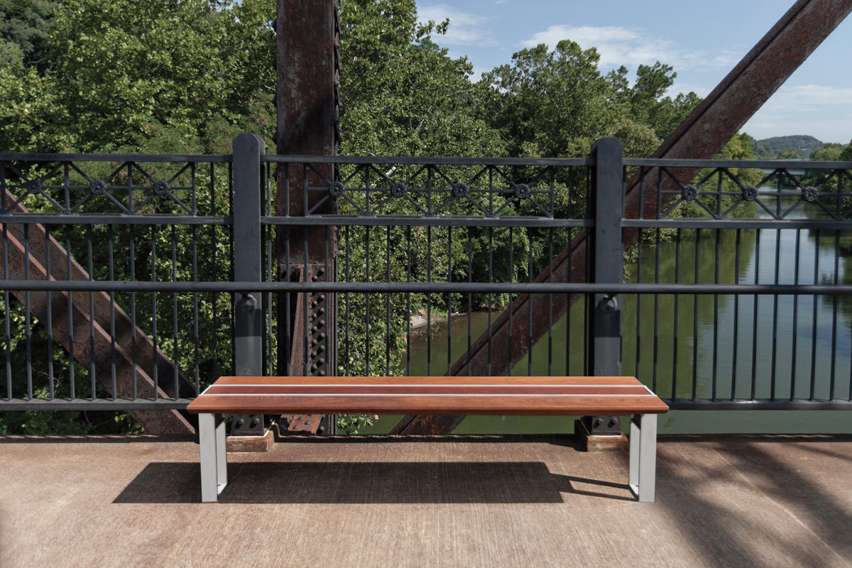 ... Apex Bench Shown With Aluminum Texture Powdercoated Frame And FSC® 100%  Jatoba ...