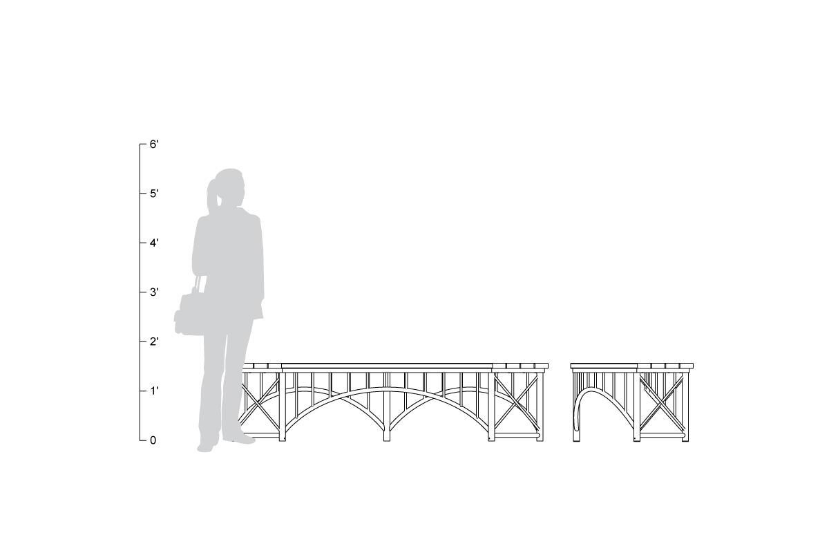 Bridge Bench Outdoor Forms Surfaces