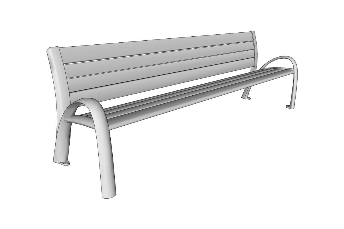 Bench 8 Part - 38: ... Camber Bench, 8 Foot, Extruded Aluminum Slats ...