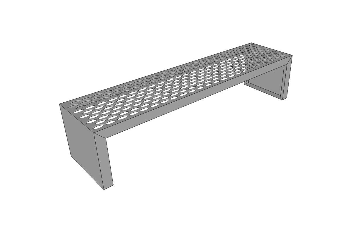 Foundation Bench, integral Stainless Steel ends