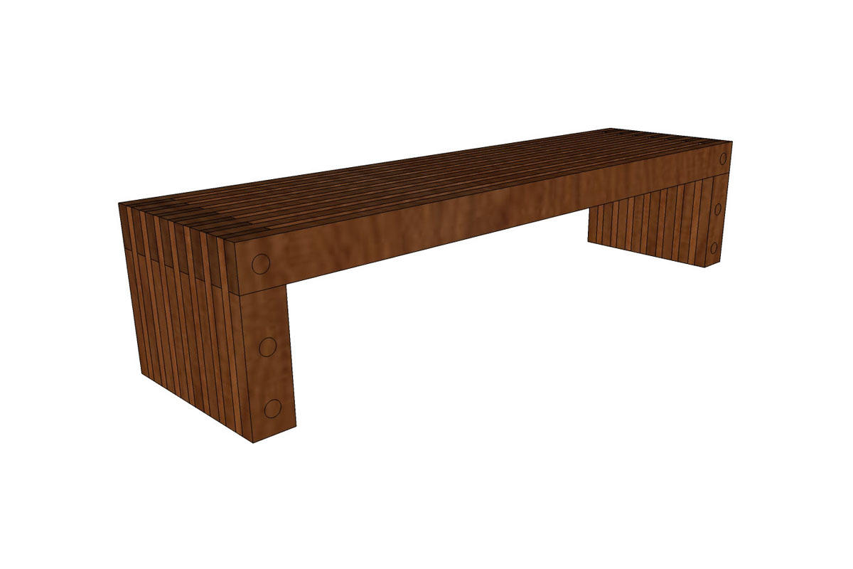 Hudson Bench, 6 foot, freestanding