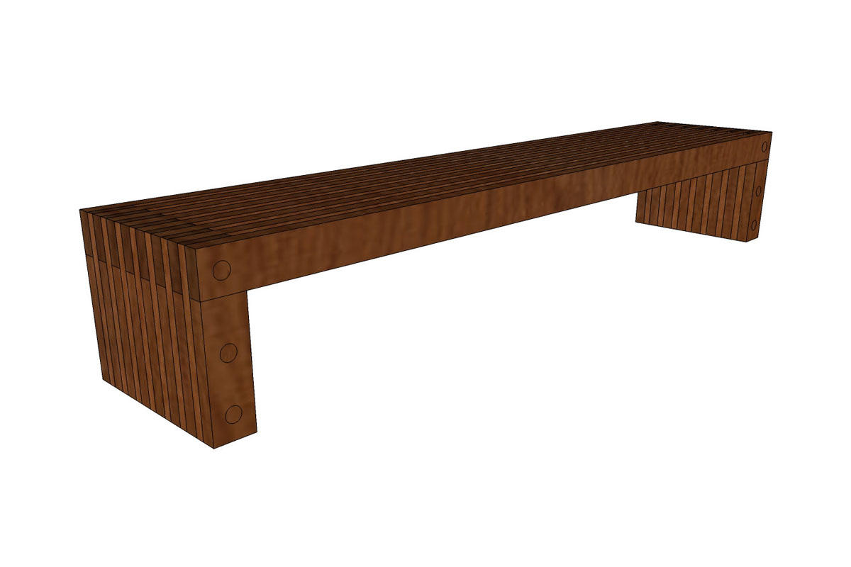 mid grain control walnutbech side custom walnut modern bench foot century