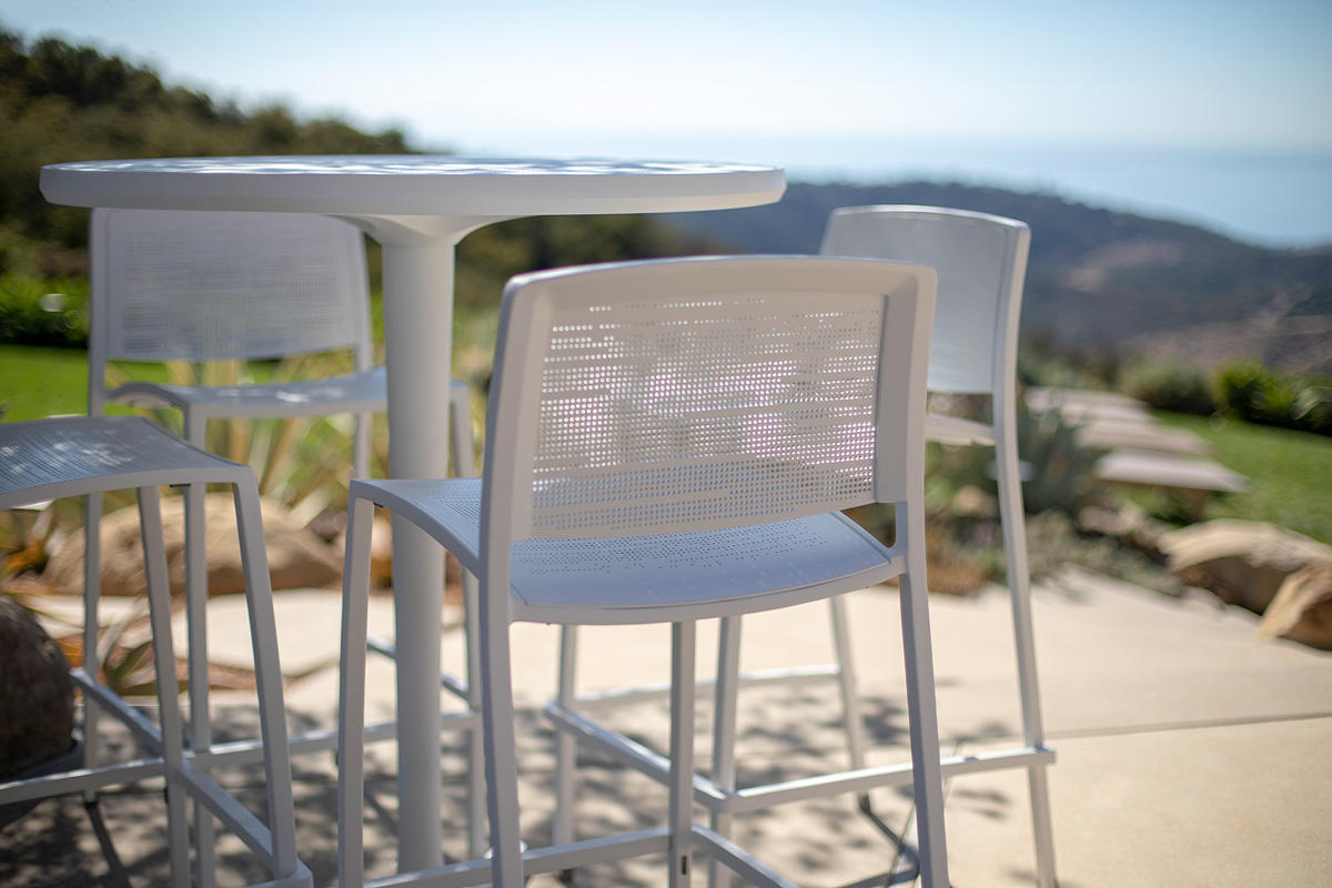 Avivo Pedestal Table Outdoor Forms Surfaces