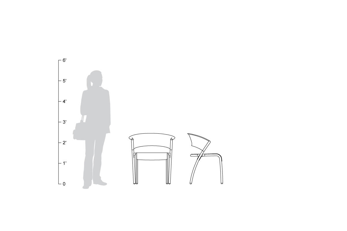Bantam Chair, shown to scale