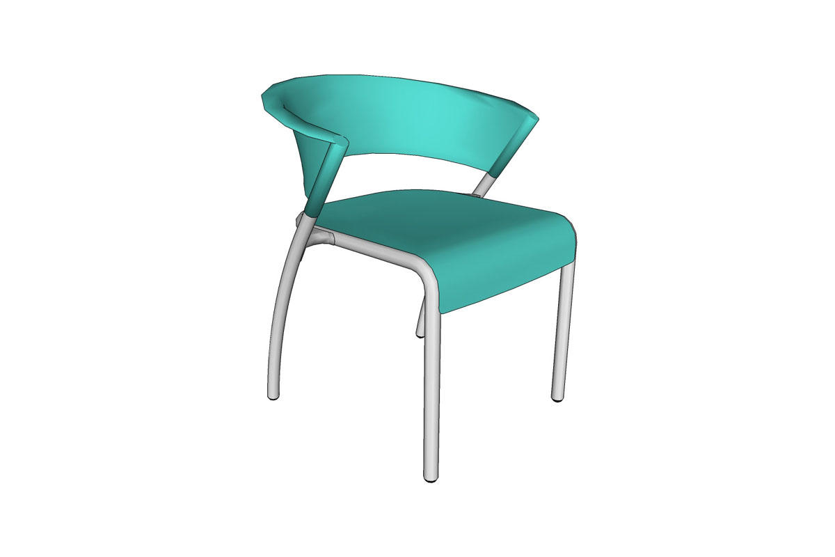 Bantam Chair, Aquamarine