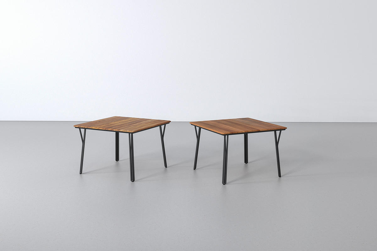 Factor Tables shown with Black Texture powdercoated frames