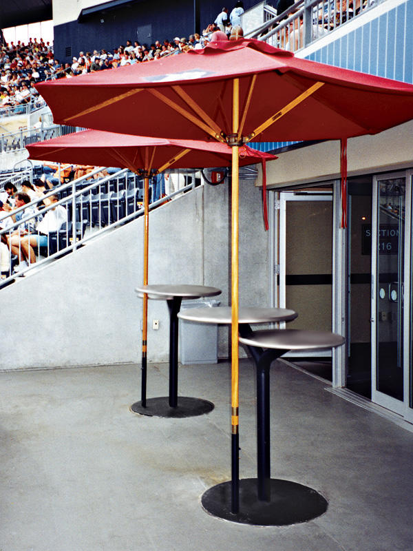... Bistro Tables, Sandstone Stainless Steel Top, Black Texture Bases,  Columns ...