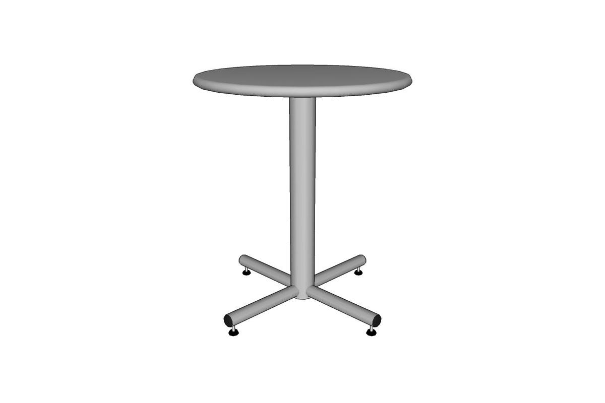 "Cross Table, 24"" round table top, 24"" base"