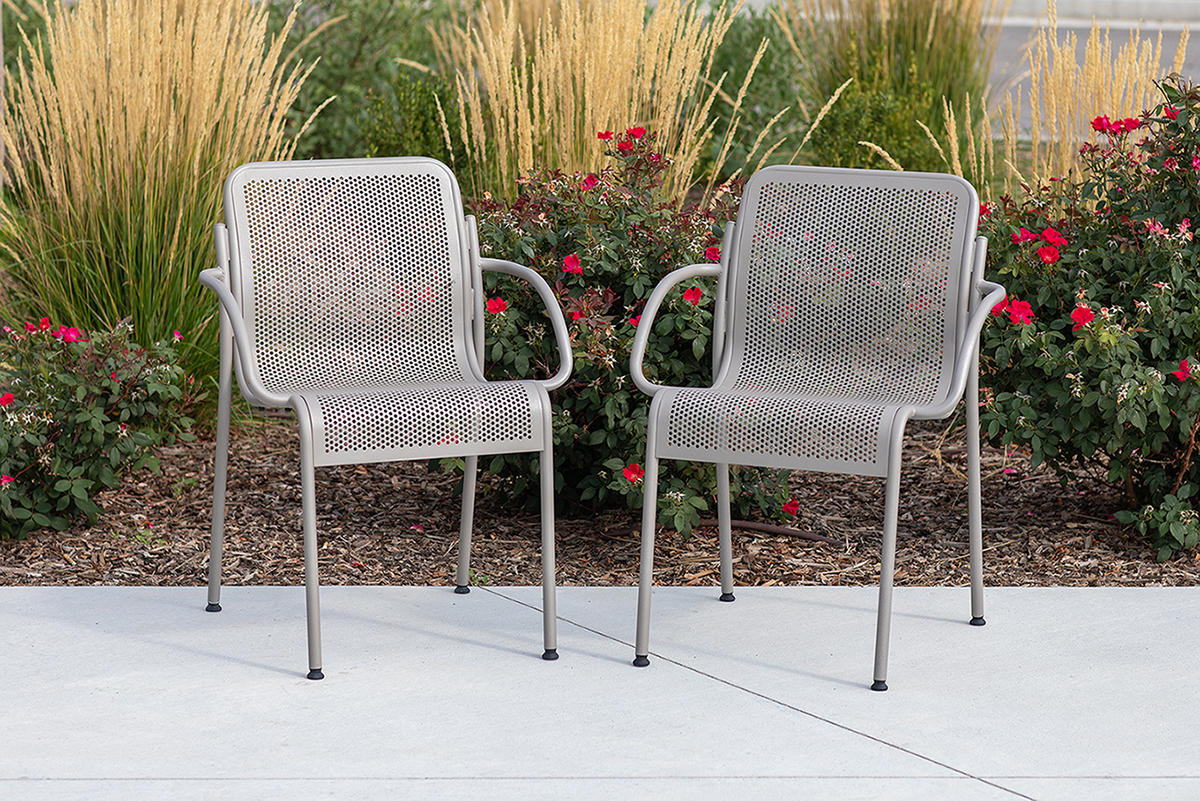 Vista Chairs with Argento Texture powdercoat