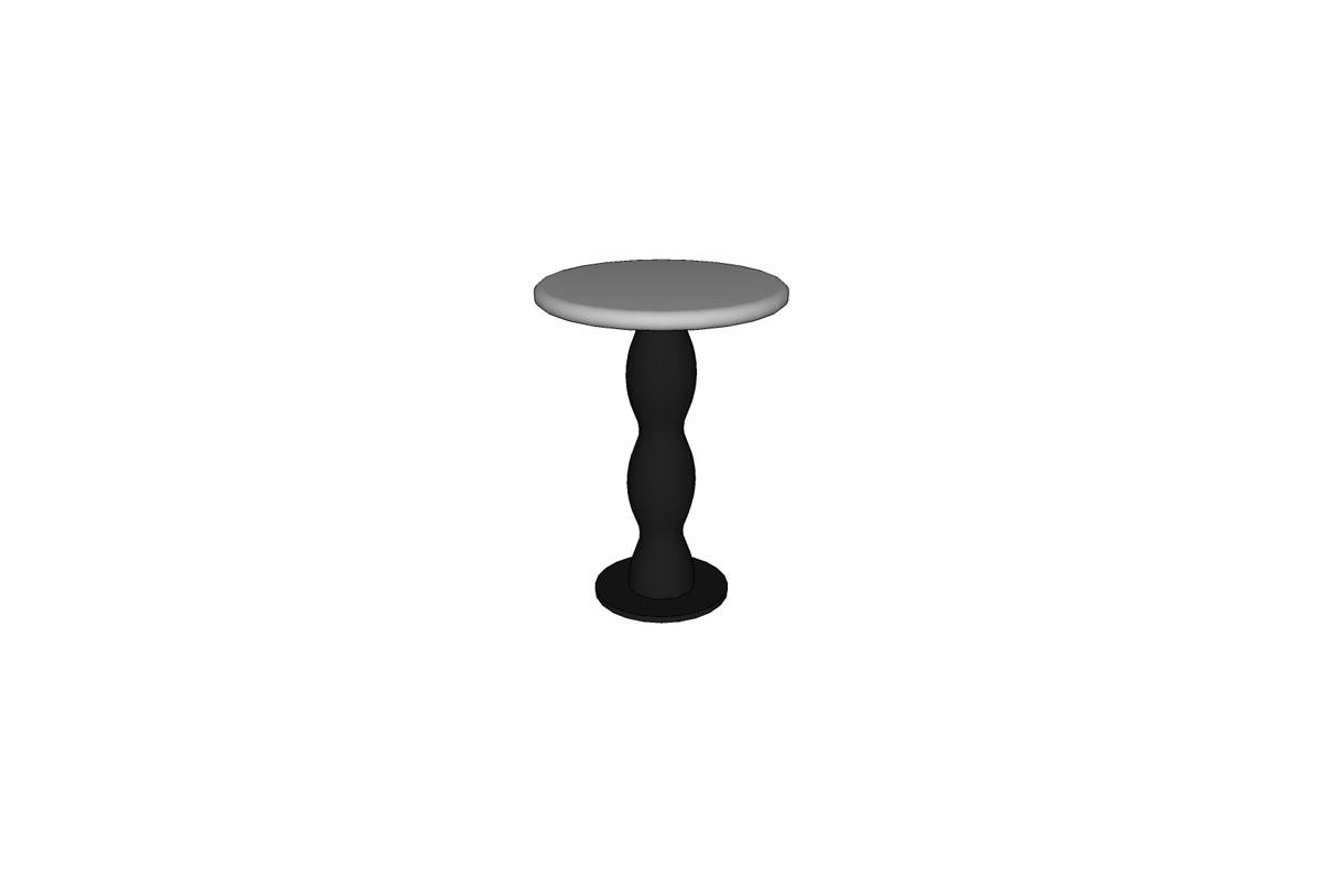 "Wave Seat, 14"" round top, 8"" base"