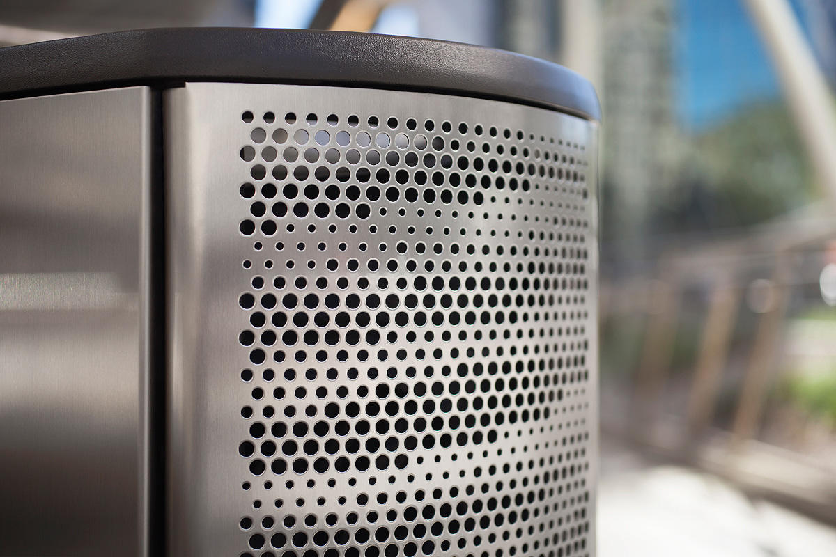 Axis Litter & Recycling Receptacle | Outdoor | Forms+Surfaces
