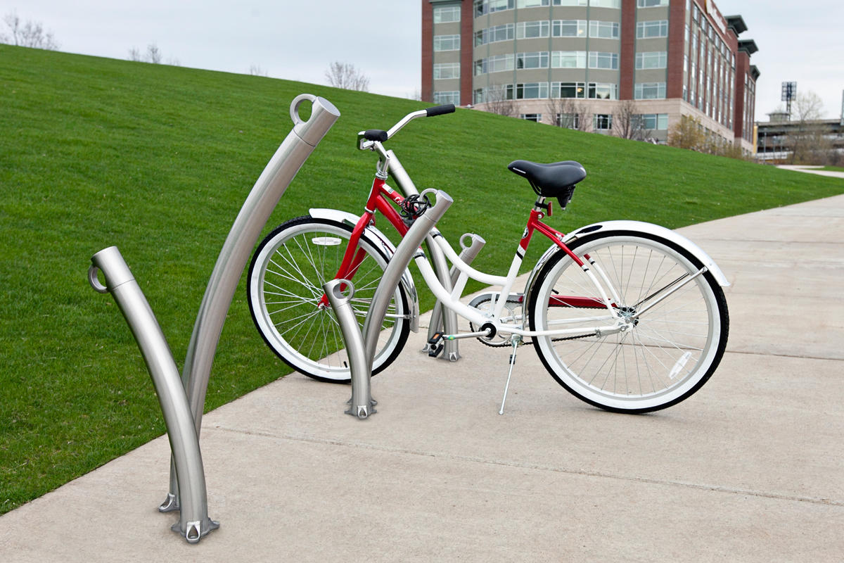 mount u bike racks parking cyclesafe vintage rack rail