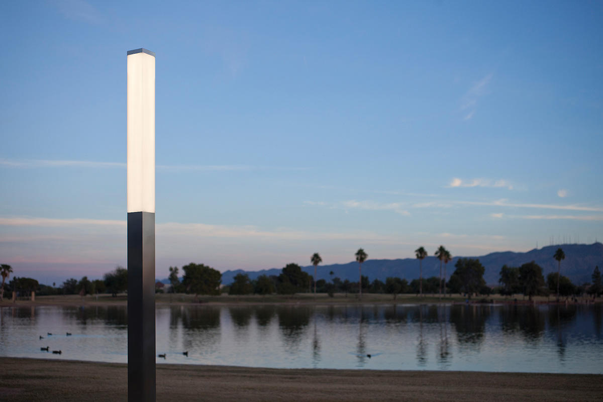 Rincon Pedestrian Lighting in Stainless Steel with Satin finish