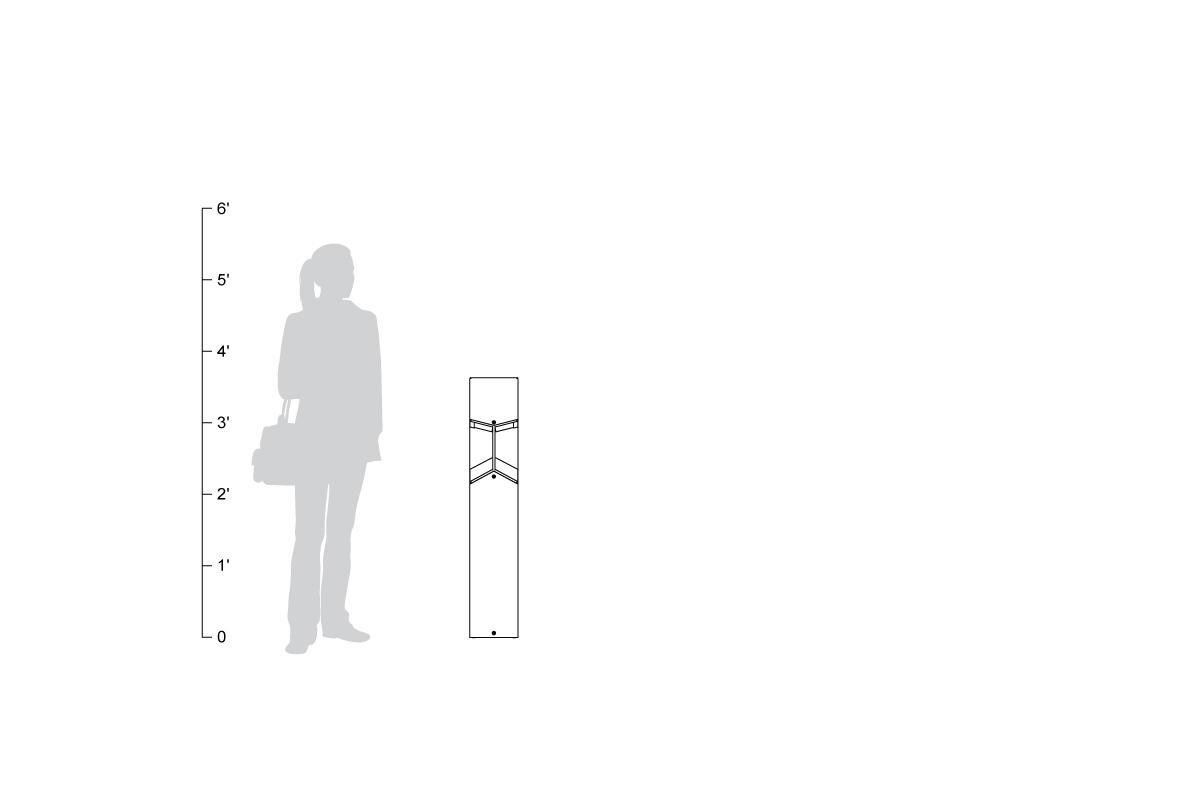 Knight Bollard, shown to scale.