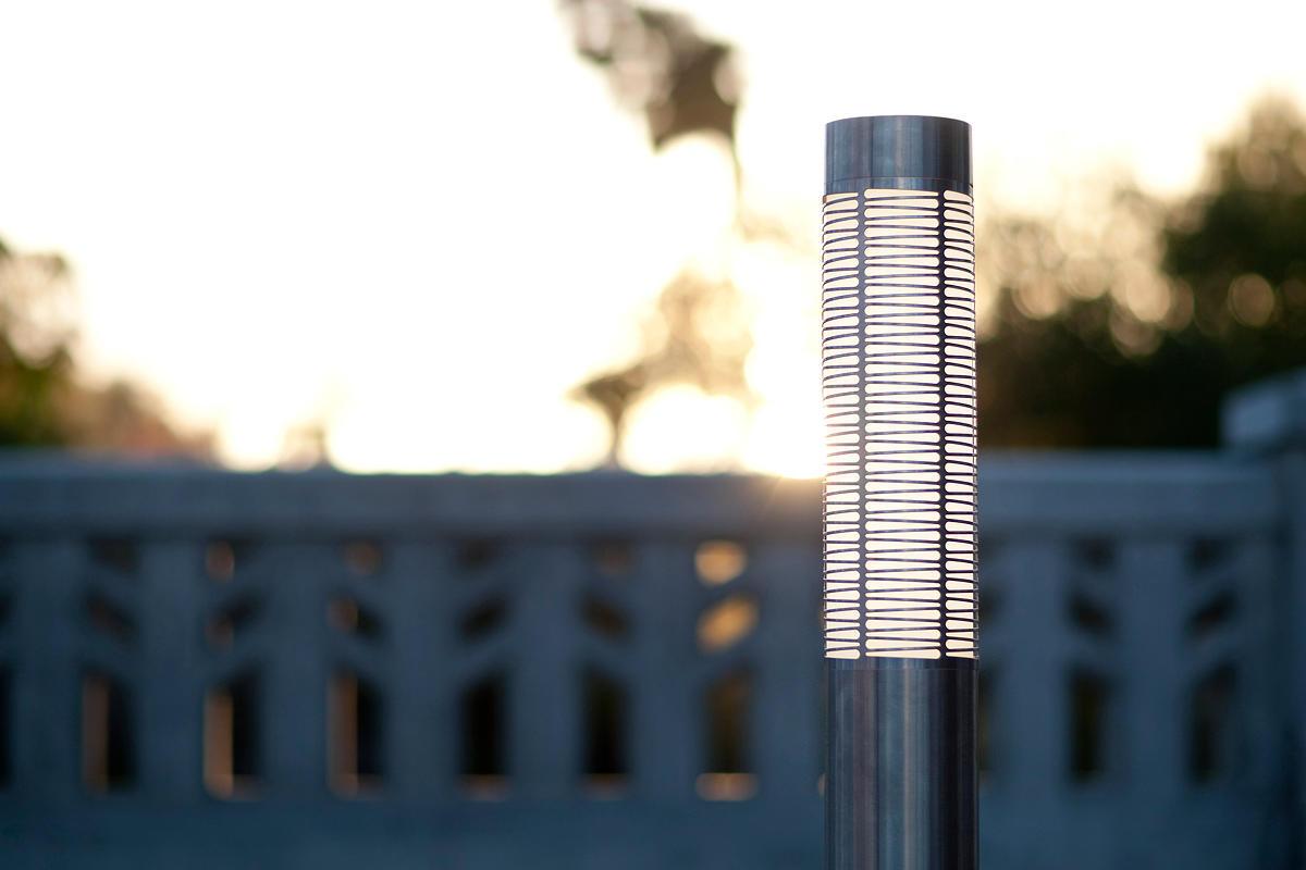 ... Light Column Bollard shown with 180 degree Kente shield ...  sc 1 st  Forms+Surfaces & Light Column Bollard | Outdoor | Forms+Surfaces azcodes.com
