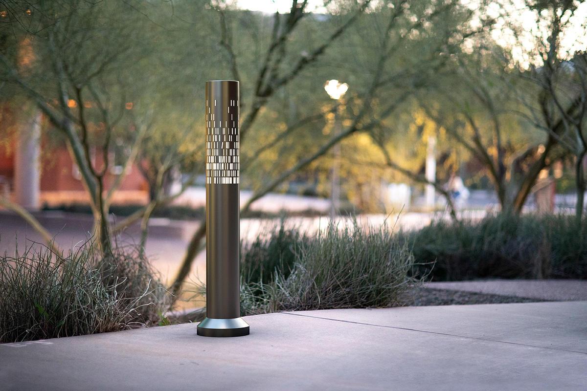 Light Column Bollard shown with 360 degree Scale shield