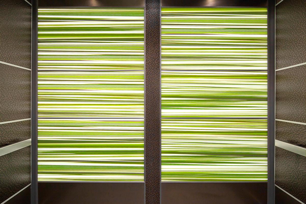 LEVELe-107 Elevator Interior with LightPlane panels in ViviSpectra Elements