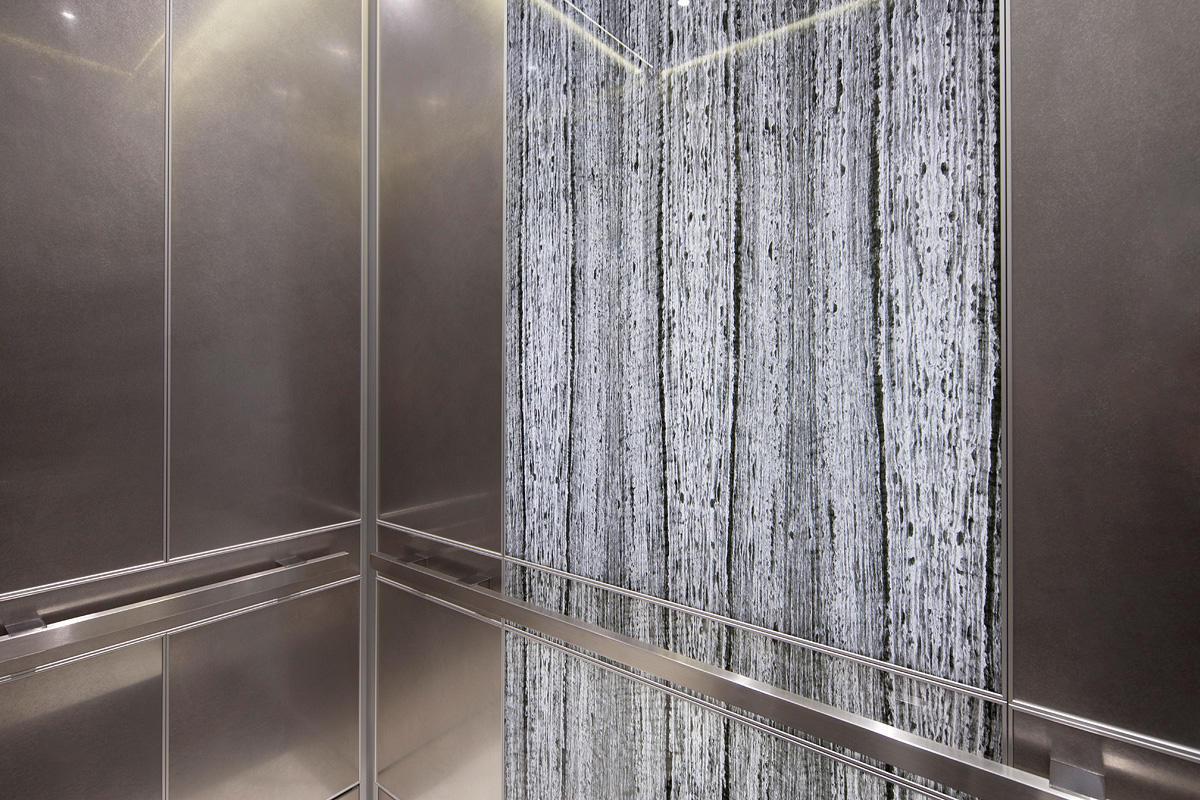 LEVELe 105 Elevator Interior With Customized Panel Layout