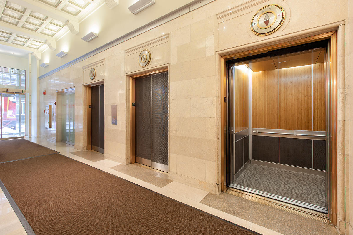 Bonded metal elevator doors architectural forms surfaces for Elevator designs