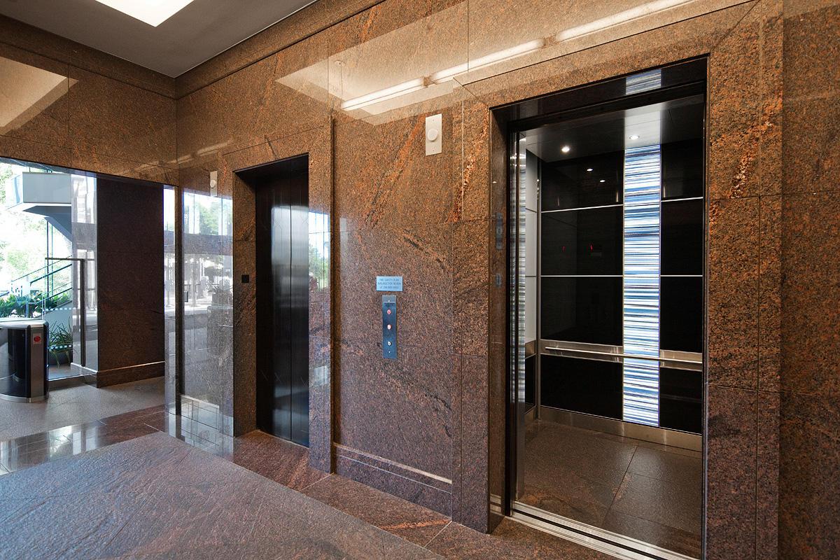 LEVELe-107 Elevator Interior with customized panel layout; LightPlane Panels