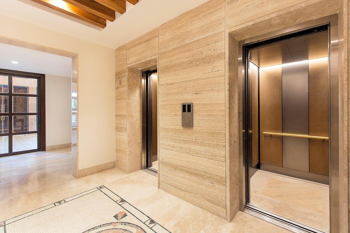 LEVELe-105 Elevator Interior with customized panel layout