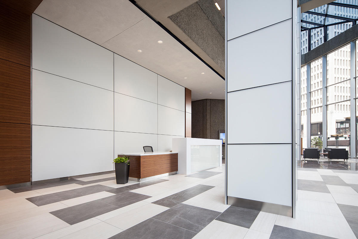 Glass Interior Wall Cladding : Bank of america plaza forms surfaces