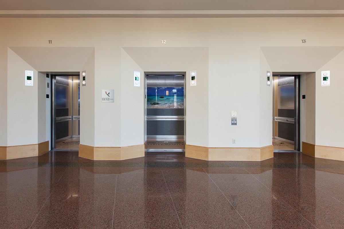 LEVELe-102 Elevator Interiors with LightPlane Panel in ViviSpectra Spectrum