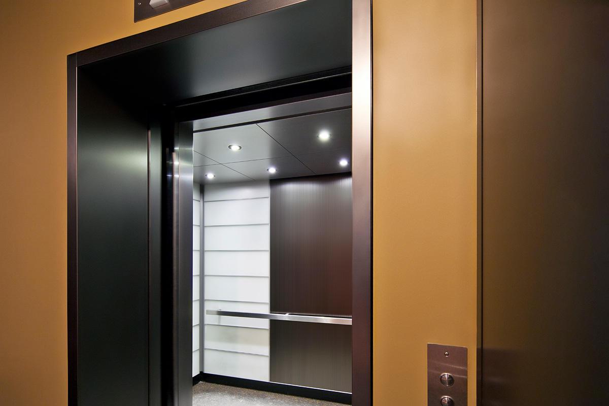 LEVELe-103 Elevator Interior with customized panel layout