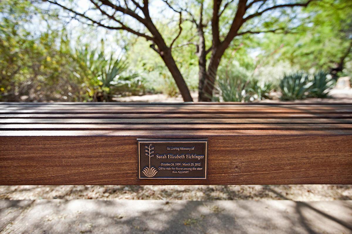 ... Hudson Bench With FSC 100% Ipé Hardwood Slats And Custom Plaque