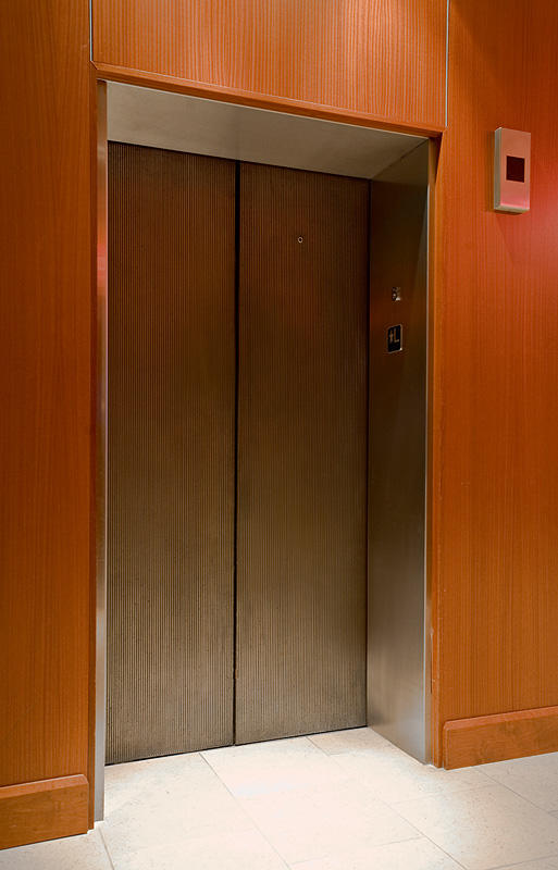 Elevator doors shown in Bonded Bronze with Dark Patina and Rain pattern at The Hyatt Regency DFW Dallas Texas : dfw doors - Pezcame.Com