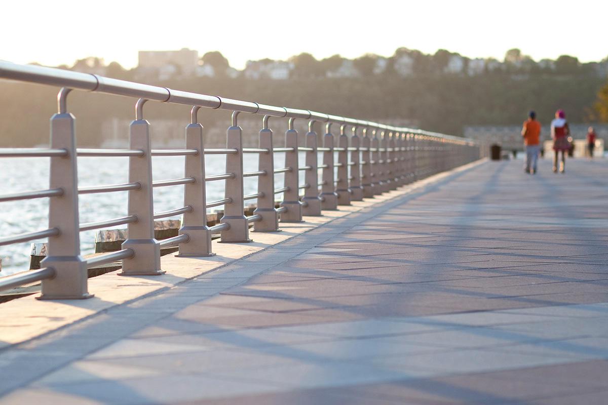 Hudson River Park Forms Surfaces