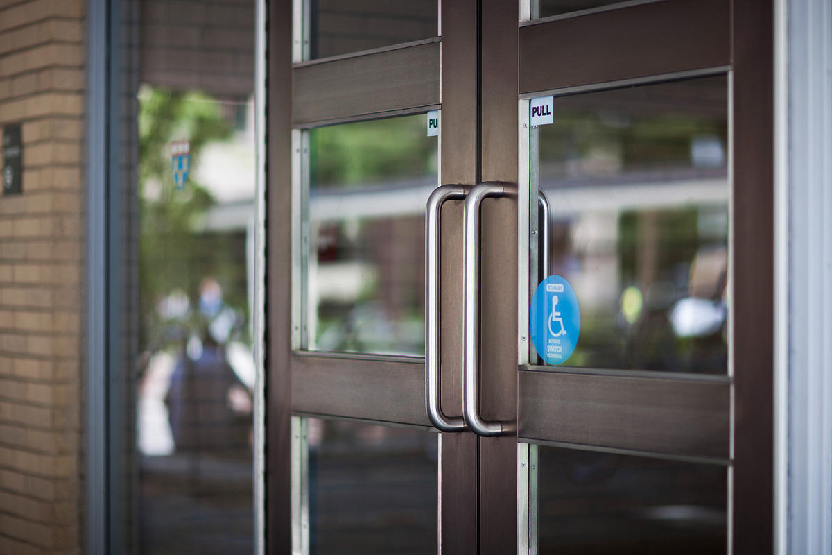 Harvard law school forms surfaces for Doorway doors