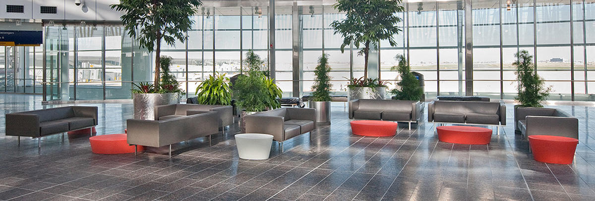Universal Planters Shown In Custom Configuration With Bodies Stainless Steel