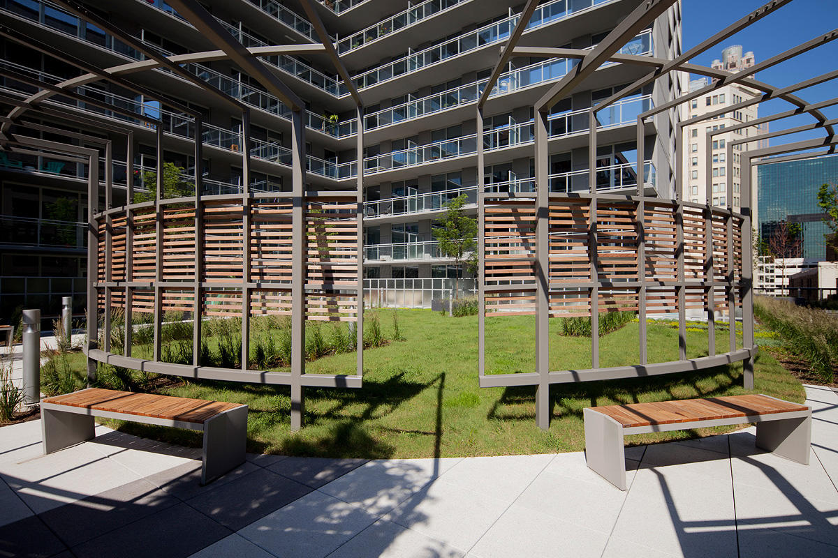 Boardwalk Benches with Atlantic City Boardwalk FSC® Recycled reclaimed Cumaru