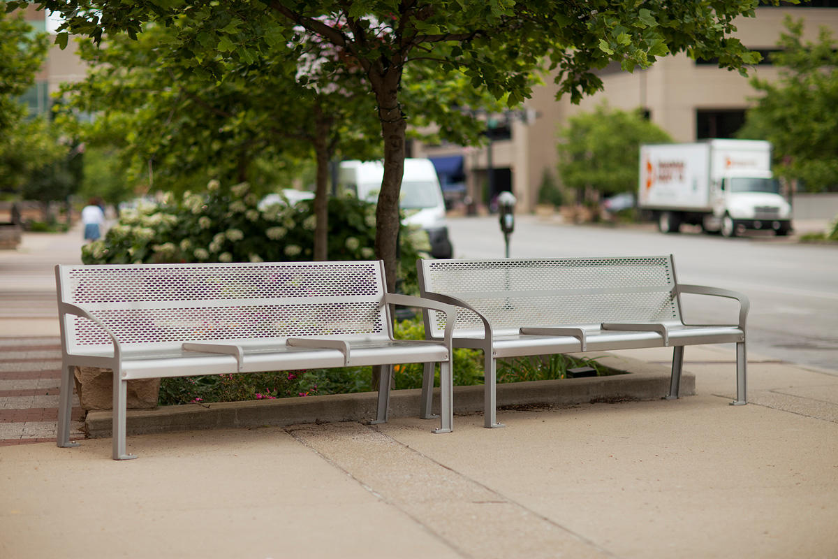 ... Ratio Benches Shown In Backed Configuration With Aluminum Texture  Powdercoated ...
