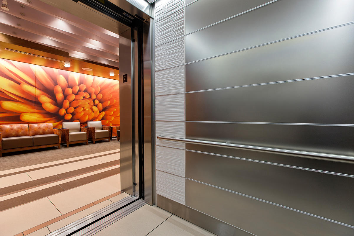 ... LEVELe 103 Elevator Interior With Panels In Stainless Steel With  Seastone Finis ...