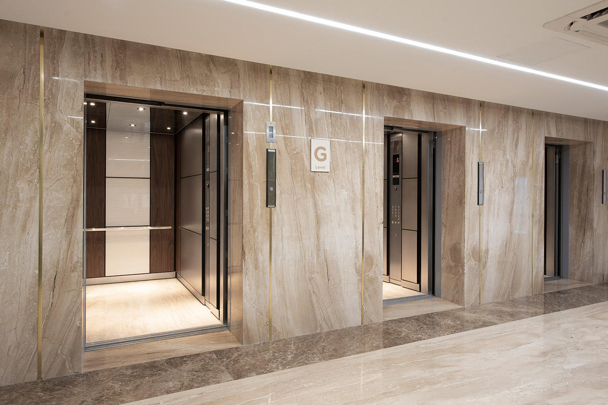LEVELe-105 Elevator Interiors with customized panel layout; Capture panels in Vi