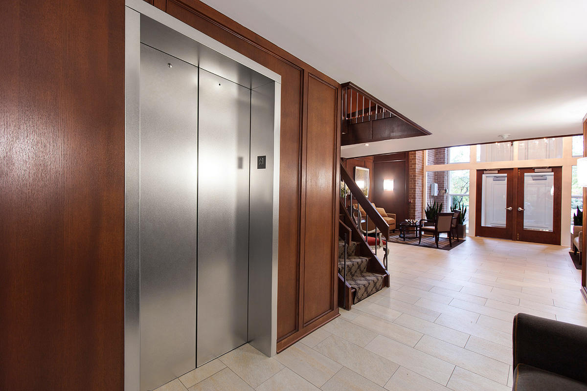 ... Elevator doors in Stainless Steel with Sandstone finish at Oak Brook Club Oak B ... & Oak Brook Club | Forms+Surfaces