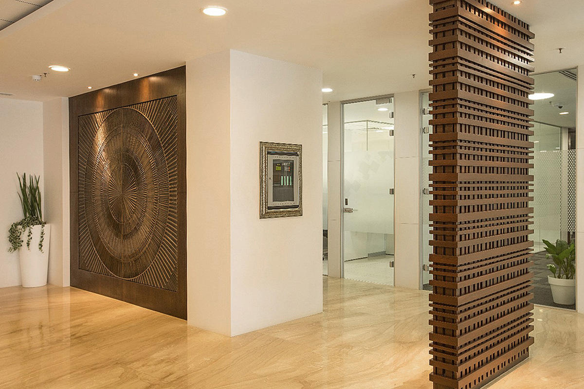 Private Location Lobby Bangalore India Forms Surfaces