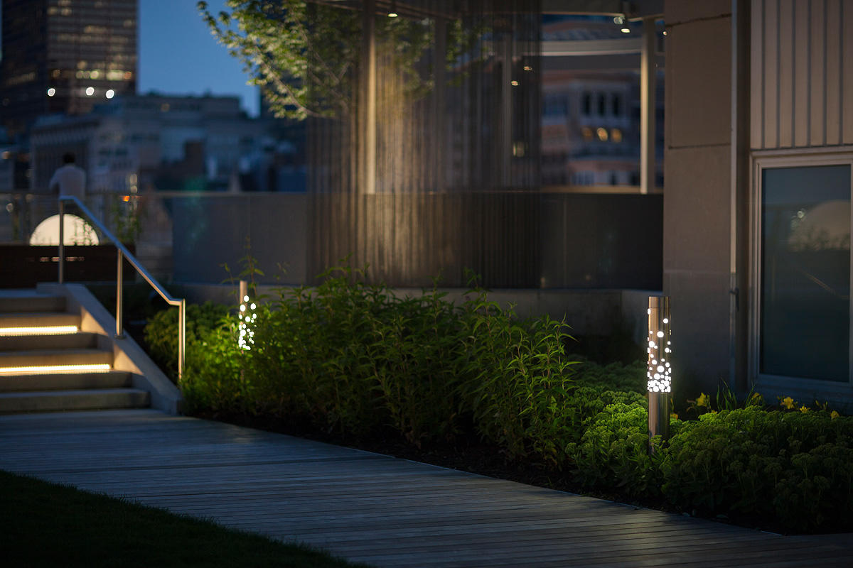rooftop lighting. Light Column Bollards Shown In Stainless Steel With Satin Finish Rooftop Lighting O