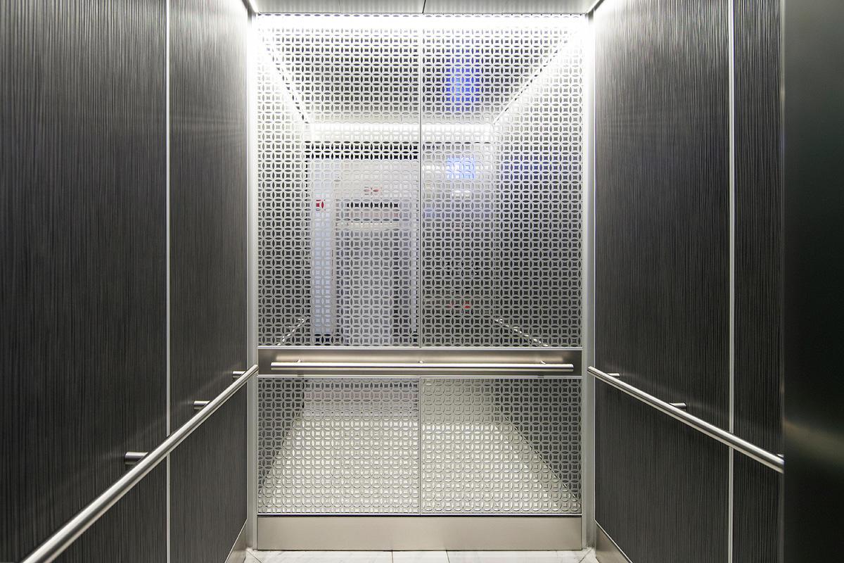 inside elevator doors