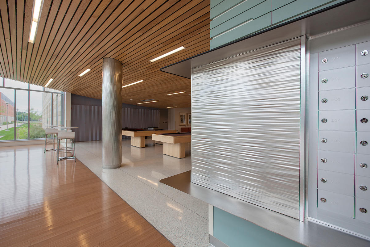 Stainless steel columns architectural forms surfaces for Steel divider design