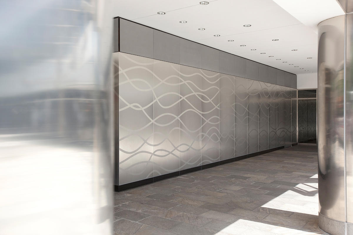 Etched Metal Panels : Van ness center forms surfaces