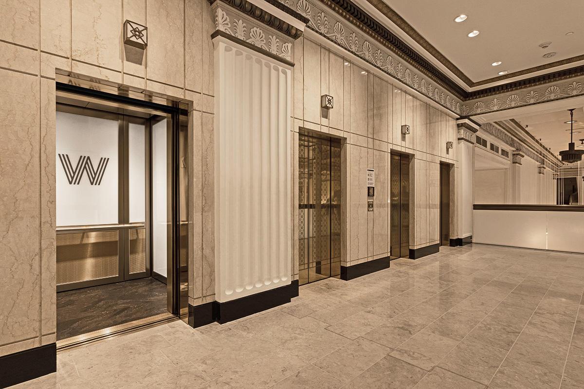 LEVELc-2000 Elevator Interior with customized panel layout