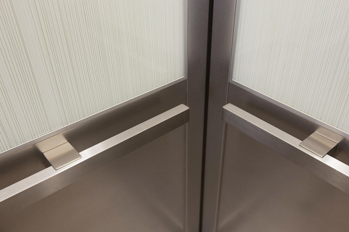 Elevator handrails architectural forms surfaces for Elevator grab bars