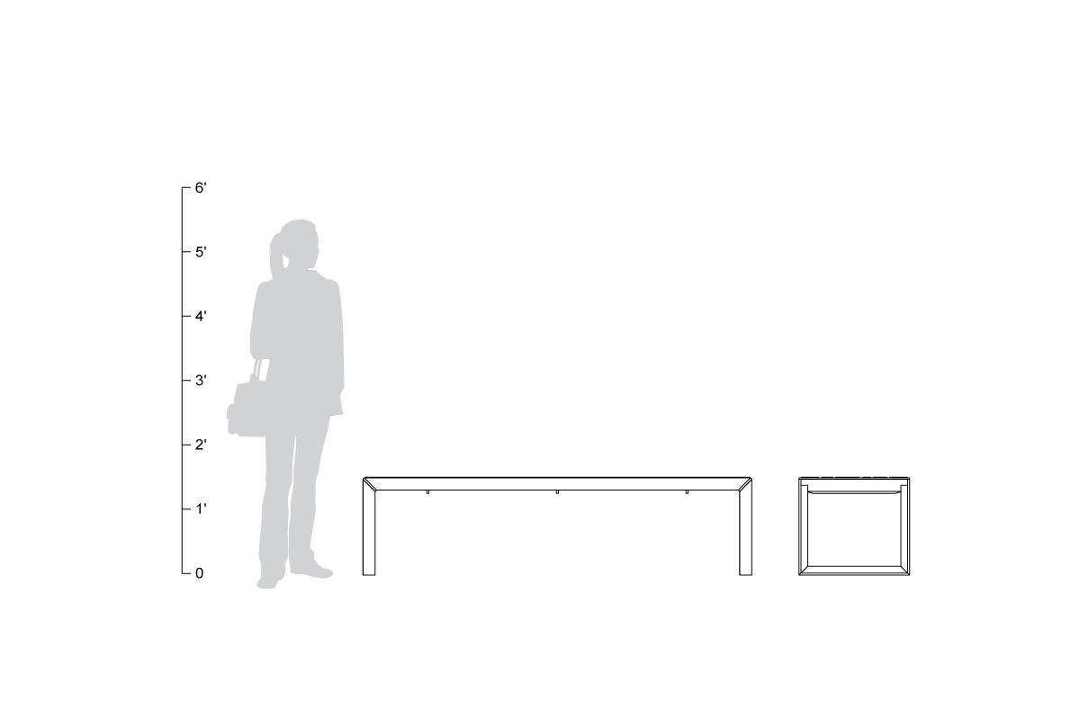 Dash Bench, shown to scale.